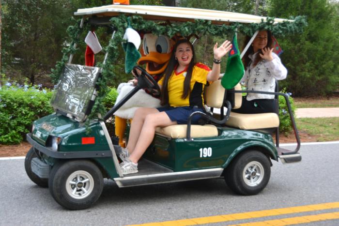 Disney's Fort Wilderness Campground Christmas Golf Cart Parade