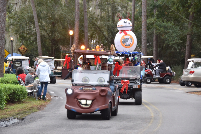 Disney's Fort Wilderness Campground Christmas Golf Cart Parade and