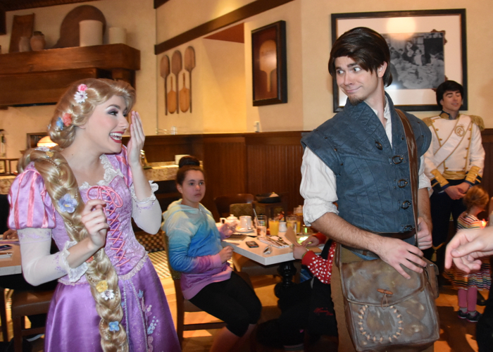 Dining Review Bon Voyage Adventure Character Breakfast At Trattoria Al Forno Including Flynn Rider Rapunzel Mousesteps